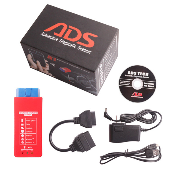 ADS A1 Bluetooth OBDII Scanner Support Android Windows XP Work On
