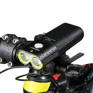GACIRON Professional 1600 Lumens Bicycle Light Power Bank Waterproof USB Rechargeable Bike Light Flashlight