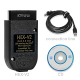 Ross-Tech VCDS VAG COM 19.6.2 HEX-V2 HEX V2 USB Interface Pro Diagnostic Cable for VW,Audi,Seat,Skoda