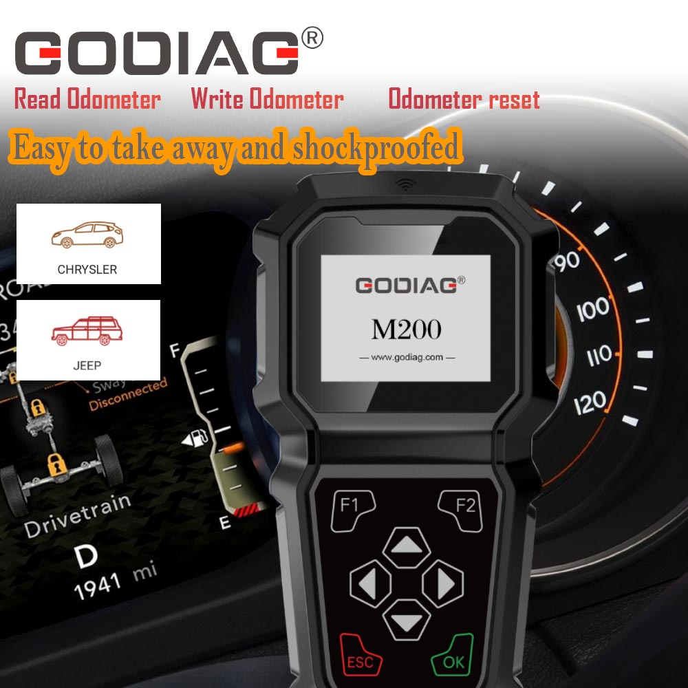 GODIAG M200 Chrysler/Jeep Hand-held OBDII Odometer Tool