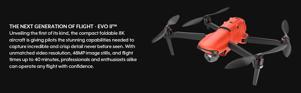 EVOII 8K drone lights