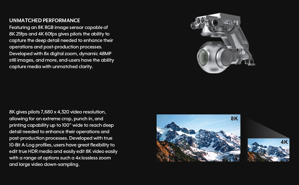EVOII 8K drone unmatched performance