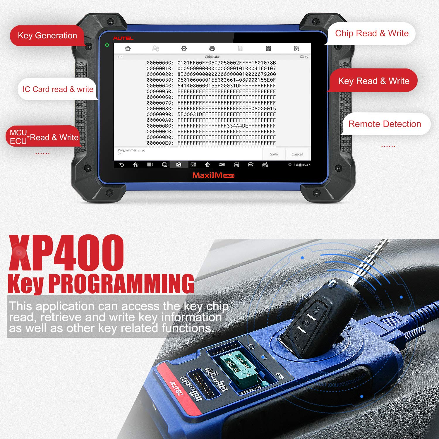 XP400 Key & Chip Programmer for Autel MaxiIM IM608 IM508 Key Programmer