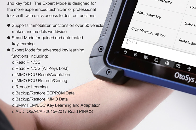 Auro OtoSys IM600 Diagnostic Key Programming and ECU Coding Tool Update Online Same as Autel MX808IM