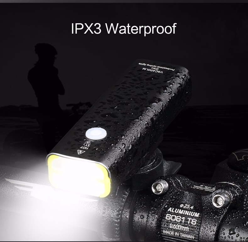 WHEEL UP Usb Rechargeable Bike Light Front Handlebar Cycling Led Light Battery Flashlight Torch Headlight