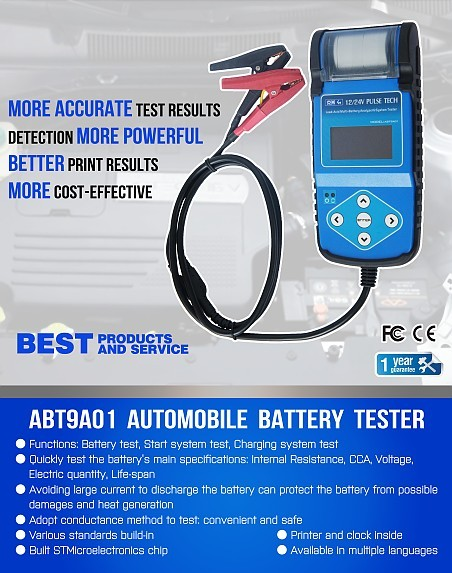 ABT9A01 Automotive Battery Tester with printer 1