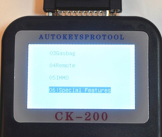 CK-200 Key Programmer Screen Display-1