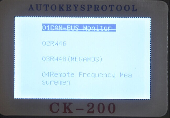 CK-200 Key Programmer Screen Display-3
