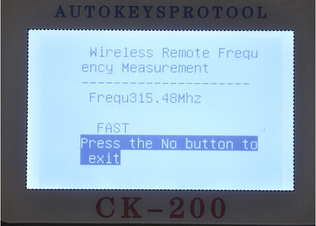 CK-200 Key Programmer Screen Display-4