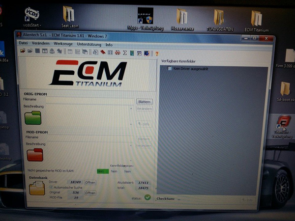 ECM TITANIUM 1.62 with 18475 Driver
