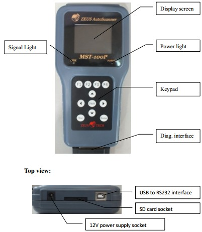 MST-100P 8 in 1 Handheld Motorcycle Scanner