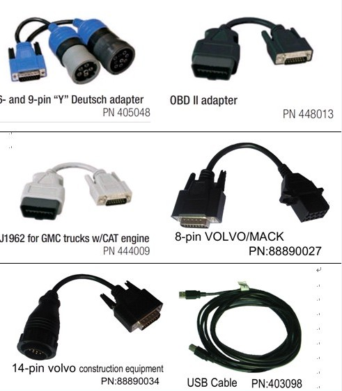 nexiq 125032 truck scanner cable list