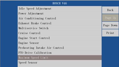 VDSA-HDECU Diesel ECU Flashing Tool function 7