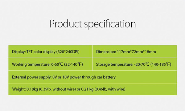 JDiag JD201 product Specifications