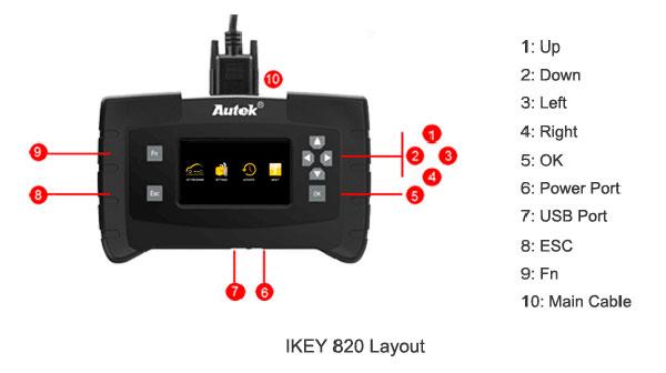 IKey820 Car Key Programmer