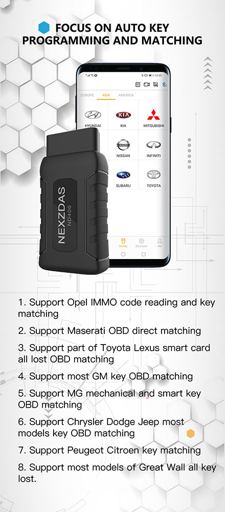 HUMZOR NEXZDAS ND406 Auto Diagnostic and Key Programming Tool with Special Functions