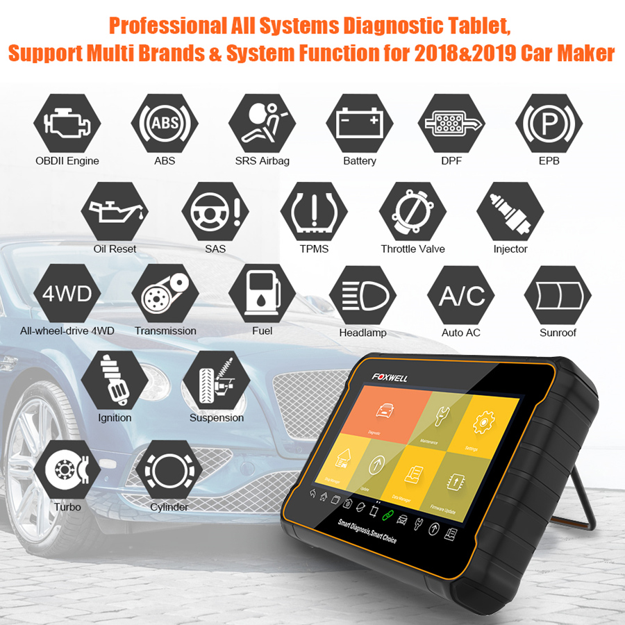 Foxwell GT60 7 Inches Android Based Diagnostic and Coding Platform