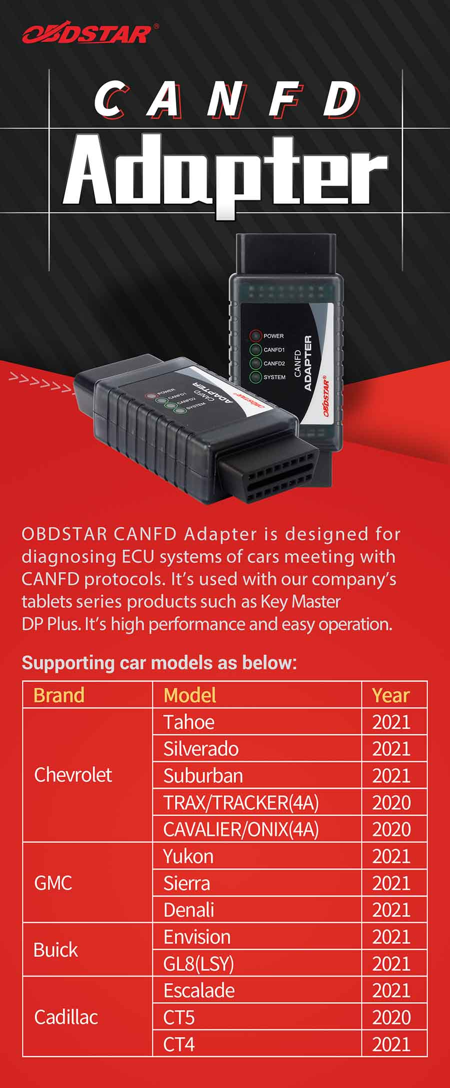 OBDSTAR CAN FD Adapter